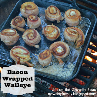 bacon wrapped walleye