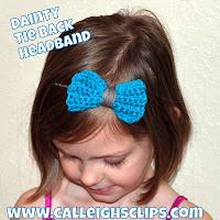 Tie Back Bow Headband