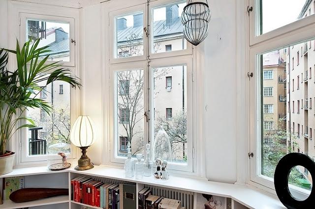 Apartamento en tonos verdes