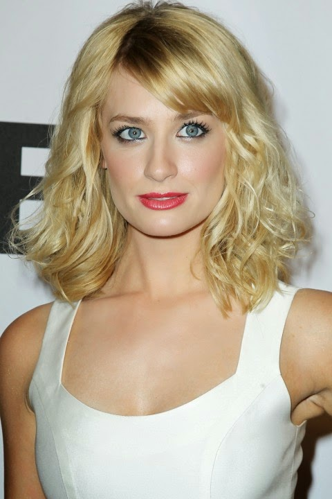 Beth Behrs New Medium Hairstyle 2014 New Hairstyle For