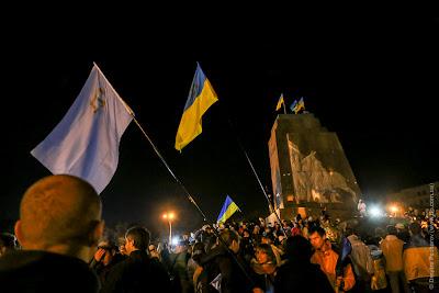 Падение Ленина в Харькове