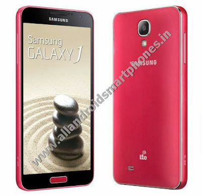 Samsung Galaxy J 4G Android Phablet Pink Color Front Back Images Photos Review