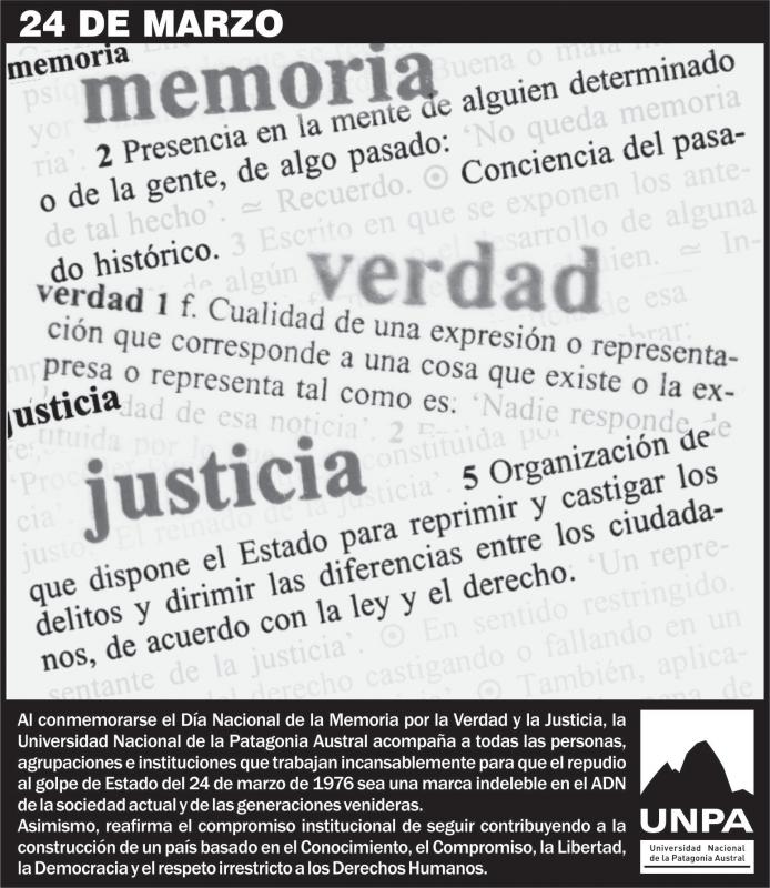 24 marzo dia internacional verdad memoria: