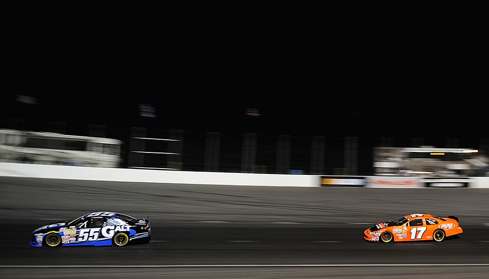 Sargeant took control on Lap 102 and did not relinquish the lead to Mayhew. Jonathan Moore/Getty Images for NASCAR