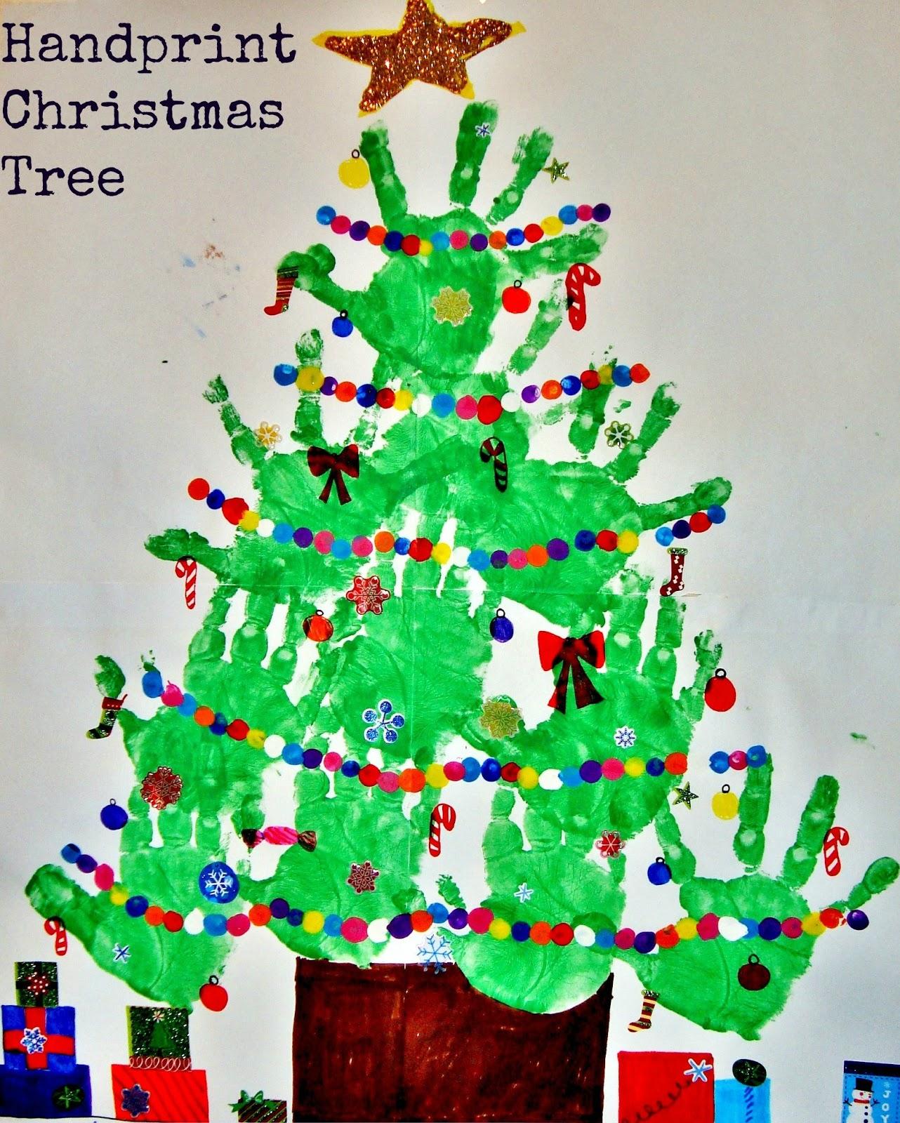 christmas tree handprint - photo #26