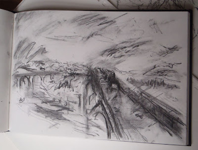 Rain, Steam, Speed J.M.W. Turner - charcoal on sketchbook