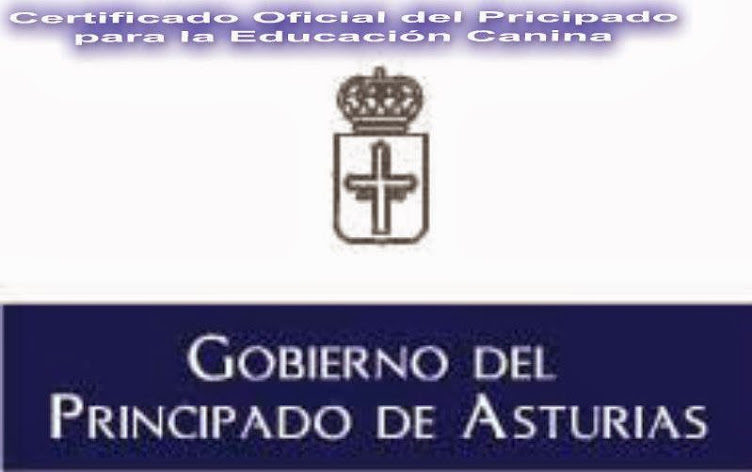 CAPACITACIÓN Y CERTIFICADO DEL PRINCIPADO DE ASTURIAS PARA LA EDUCACIÓN CANINA.