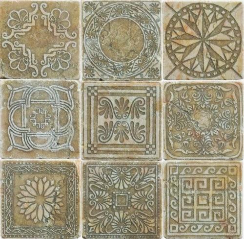 Engraved Travertine Stone Decos