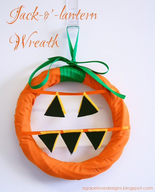 Jack-O-Lantern Wreath