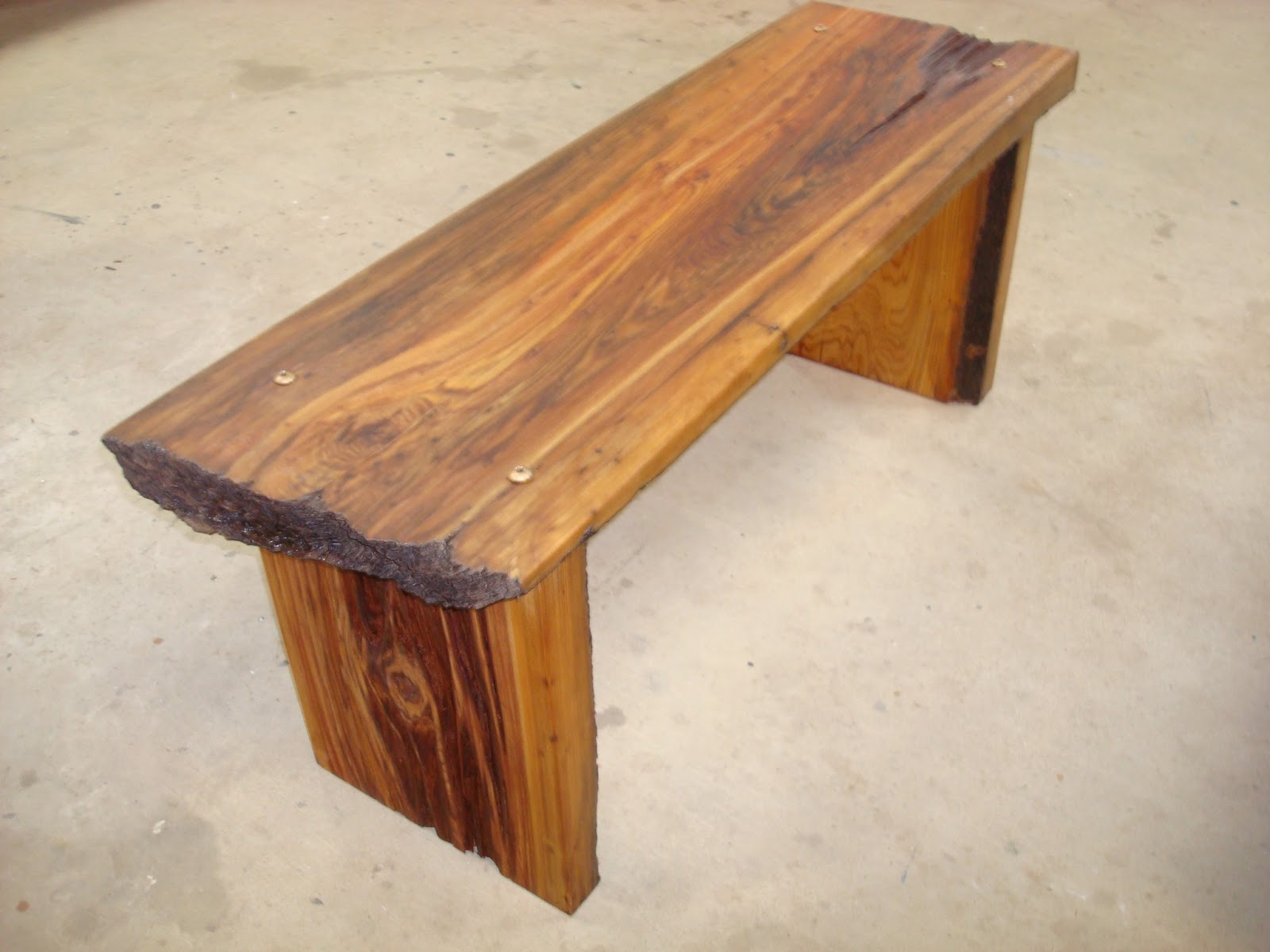 Griffin Wood Art Pecky Cypress Bench