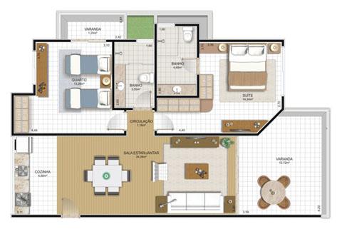 Casas planos for Diseno de apartamentos de 45m2
