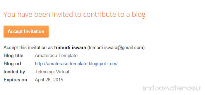 Accep Invitation Blogger