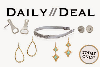 Today only: Don't miss this celebration of silver and gold! Choose from fun studs and sexy earrings