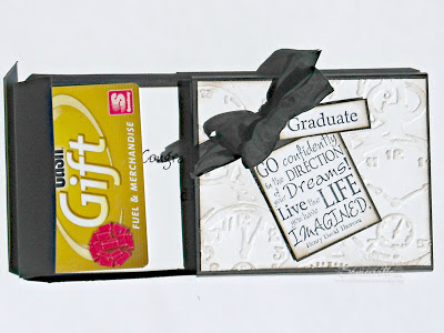 Graduation Gift Card Holder - May Club Cr8.  Stamps Our Daily Bread Designs Dreams