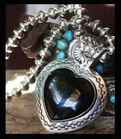Black as Crow Onyx Nested in Sterling Silver