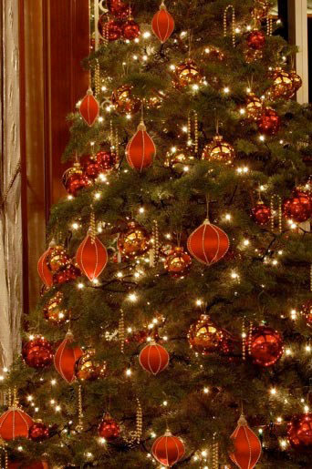 red gold christmas tree design ideas - Red Gold Christmas Tree