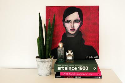 women on a magenta ground; buying art online