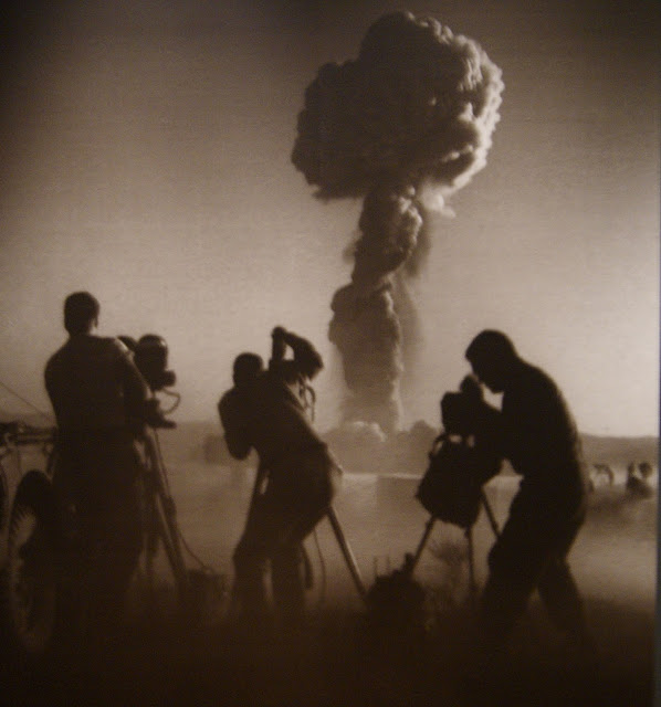 from Camera Atomica Exhibit at Art Gallery of Ontario in Toronto, AGO, Nuclear, Weapons, Photography, Meltdown, Photos, Disaster, World War Two, Canada, The Purple Scarf, Culture, Art, Artmatters, Exhibition, US Miltary, Operation Priscilla, Nevada Test Site, 1957