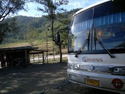 Genesis Bus stopover at Pantabangan, Nueva Ecija