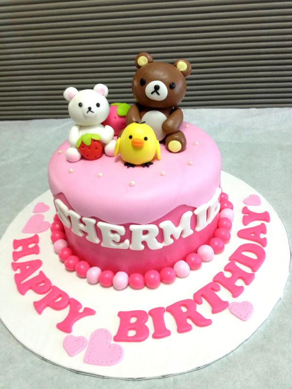 Happy Birthday Shermie A Sweet Pink Rilakkuma Cake