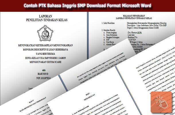 Contoh PTK Bahasa Inggris SMP Download Format Microsoft Word