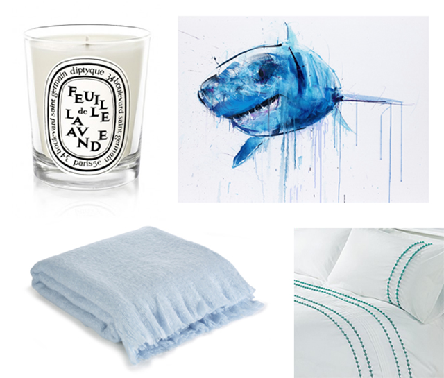 Blue bedroom wishlist