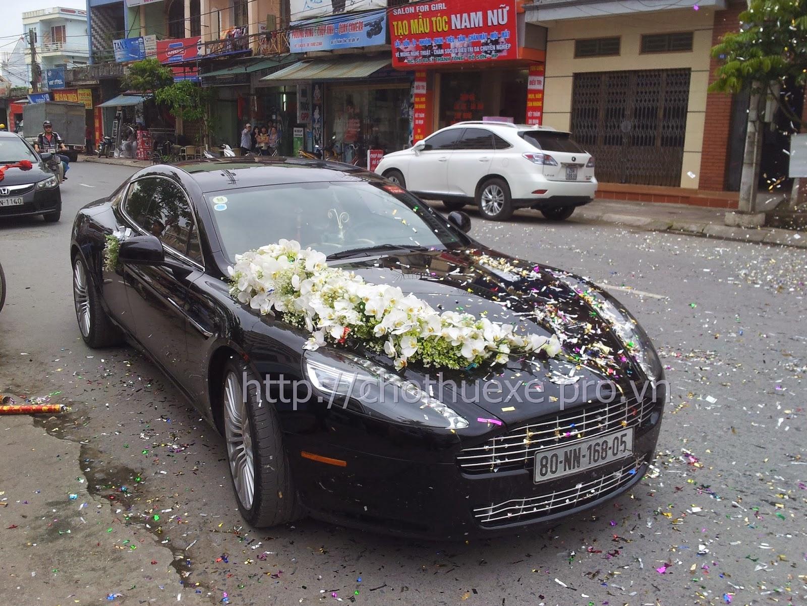 Cho thuê siêu xe đám cưới  Aston Martin Rapide ở Đức Vinh Trans 1