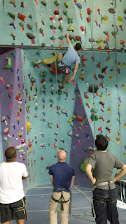 rock-climbing at Brooklyn Boulders in Brooklyn, NY