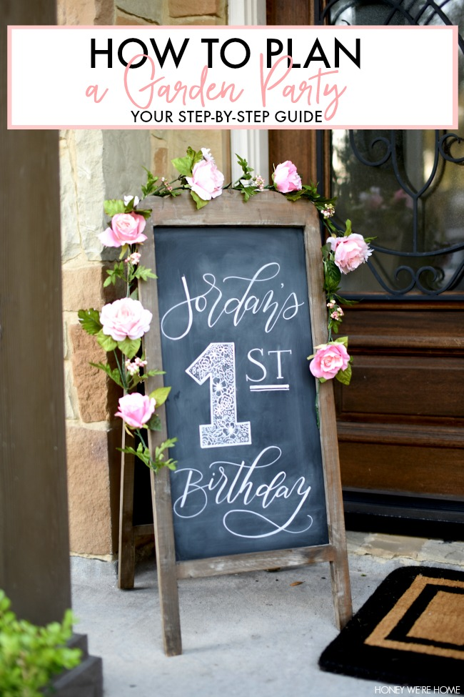 how to plan a garden party honey we 39 re home