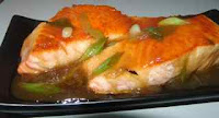 Salmon fillets Chinese style