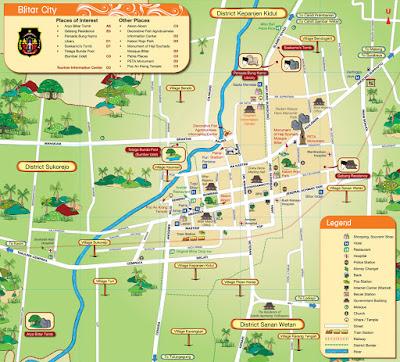 Peta Wisata Kota Blitar