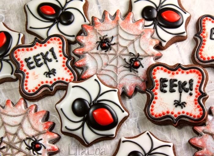 Halloween Spider Cookies | LilaLoa: Halloween Spider Cookies
