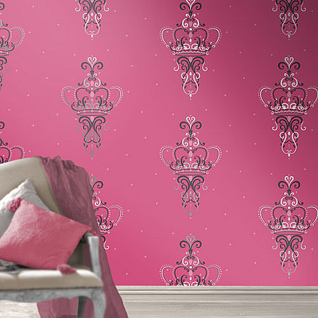 Get In The Royal Spirit And Feel Like A Princess By Adding Some Wallpaper With Crowns To Room These Would Look Pretty Little Girls