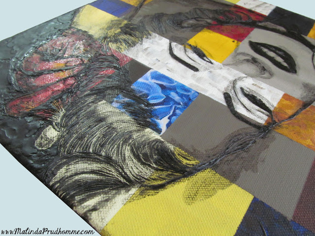 beauty art, marilyn in abstract, marilyn monroe, marilyn, monroe, marilyn art, mixed media art, encaustic painting
