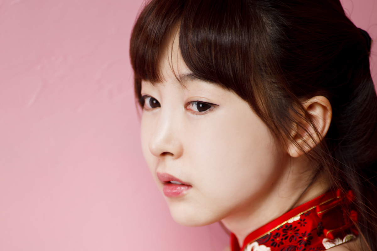 Lee Ga Na in Red Qipao