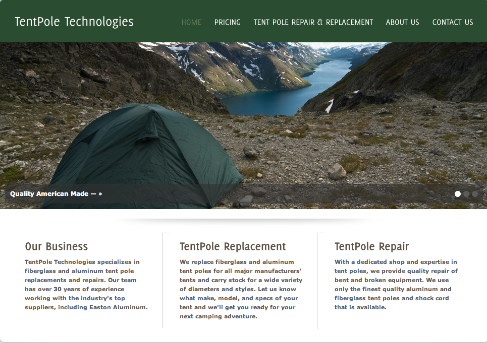 TentPole Technologies of Vancouver Washington & The Gear Loft: Repairs: tent poles