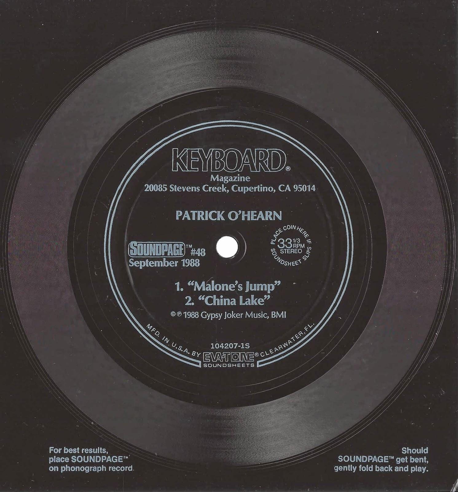 PATRICK O'HEARN - MALONES JUMP - 1988