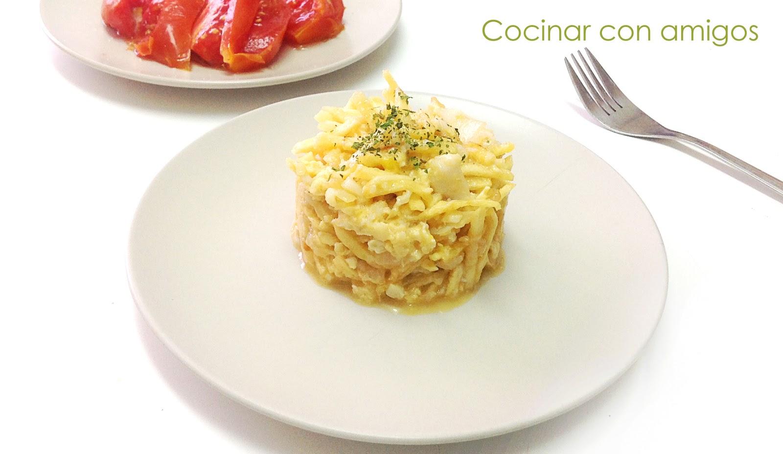 Bacalao dorado o bacalao a br s cocinar con amigos - Cocinar bacalao congelado ...