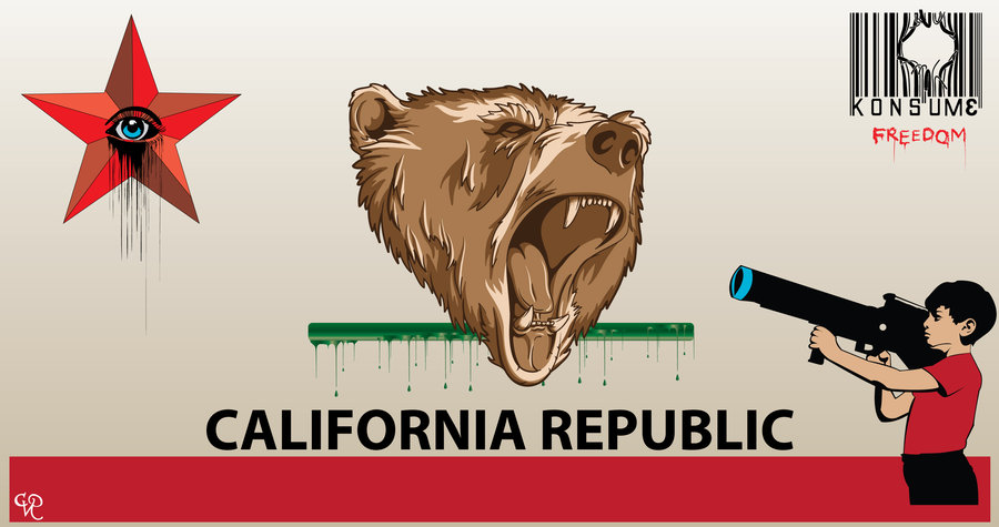 CVRedman California Republic Bear Flag Drawing From Deviantart