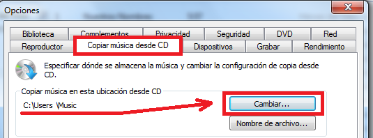 Copiar música desde CD