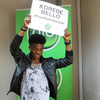 Korede Bello Signs Endorsment Deal With Glo [photo]