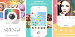 Aplikasi kamera selfie - Candy Camera For Selfie
