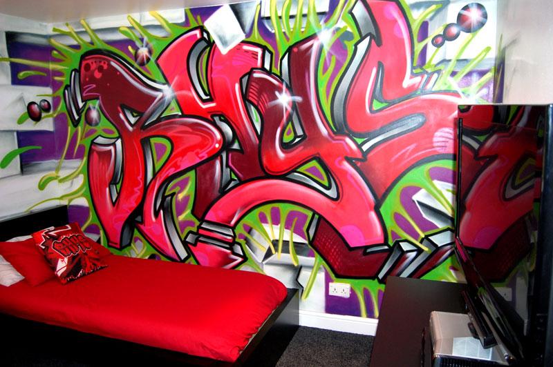 Bricolage e decora o quartos juvenis para rapaz com for Bedroom graffiti designs
