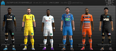 OlympiqueDeMarseille KitSet 11 12 pes2012 bydiNo preview PES 2012: Uniforme Olympique de Marseille 11/12