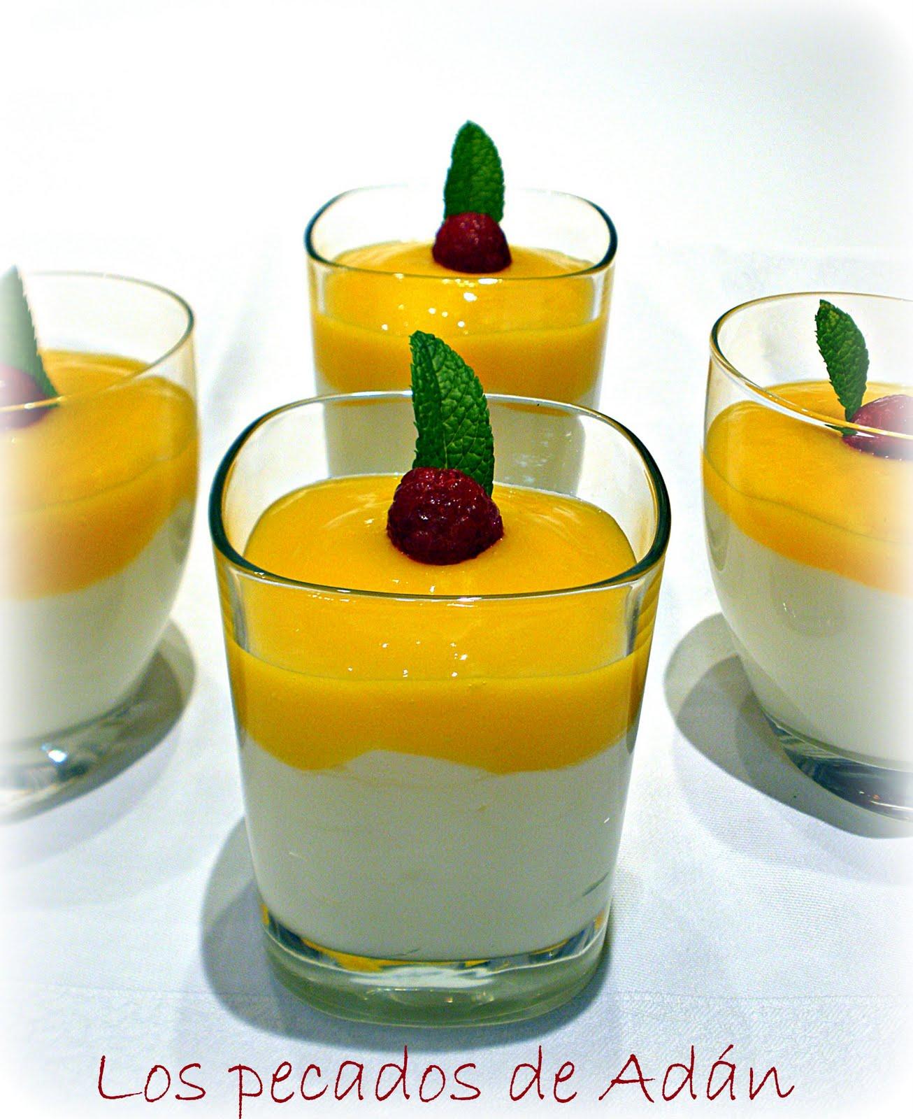 Los pecados de ad n mousse de yogurt con cul s de mango - Como hacer mousse de yogurt ...