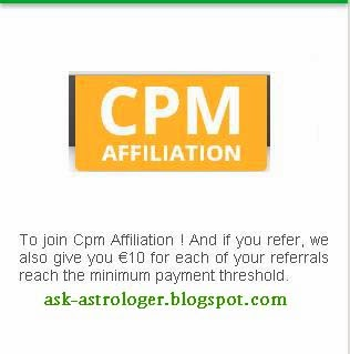CPMaffliation CPM rates and review