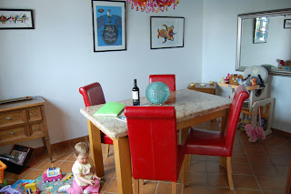The Dining Room - You can see the highchair at the back