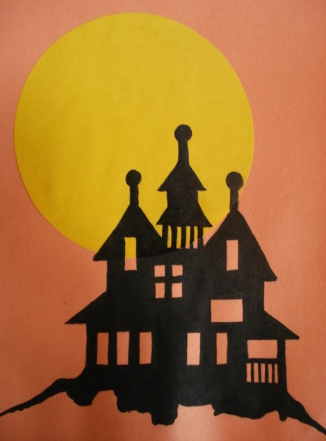 A faithful attempt haunted house silhouette painting solutioingenieria Images