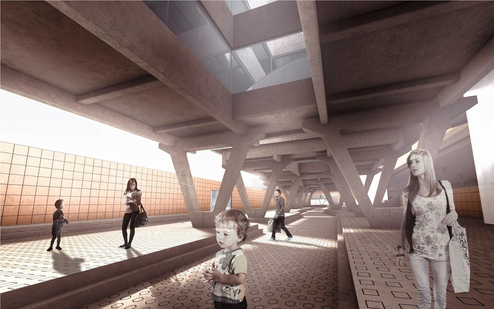 RENDERS 3D PFC - Fotomontaje Interior 3d para el PFC UAH de Naama de Miguel de Pablo - ETSAM UEM UCJC ESAYT USPCEU USP CEU IE UAX UAH UPM ETSA