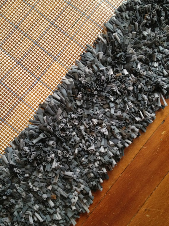 alfombra de trapillo sin tejer